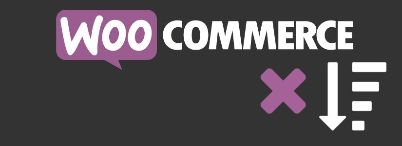 WooCommerce убрать сортировку товаров