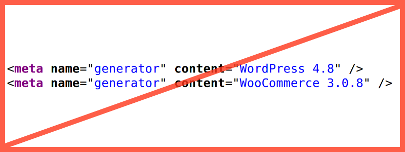 Удалить meta name=«generator» WordPress, WooCommerce и других плагинов