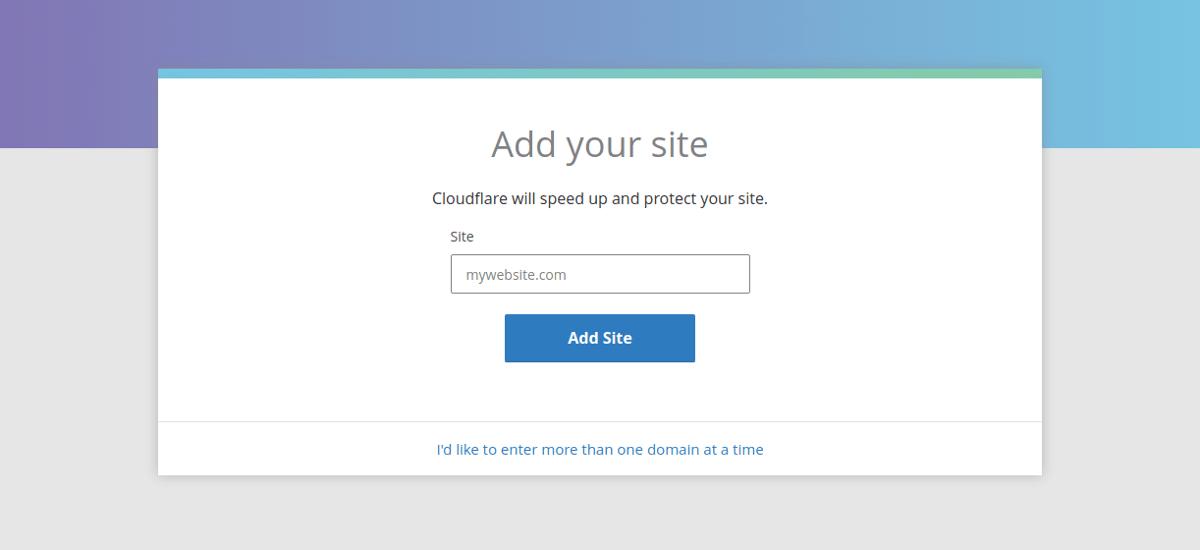 добавите свой сайт в Cloudflare